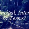Principal, Interest & Terms?